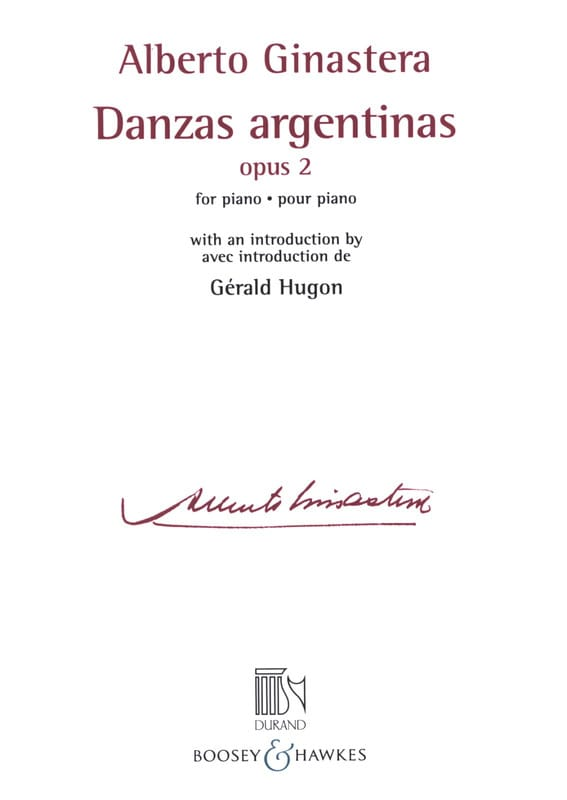 Alberto Ginastera - Argentinean dances Opus 2 - Partition - di-arezzo.co.uk
