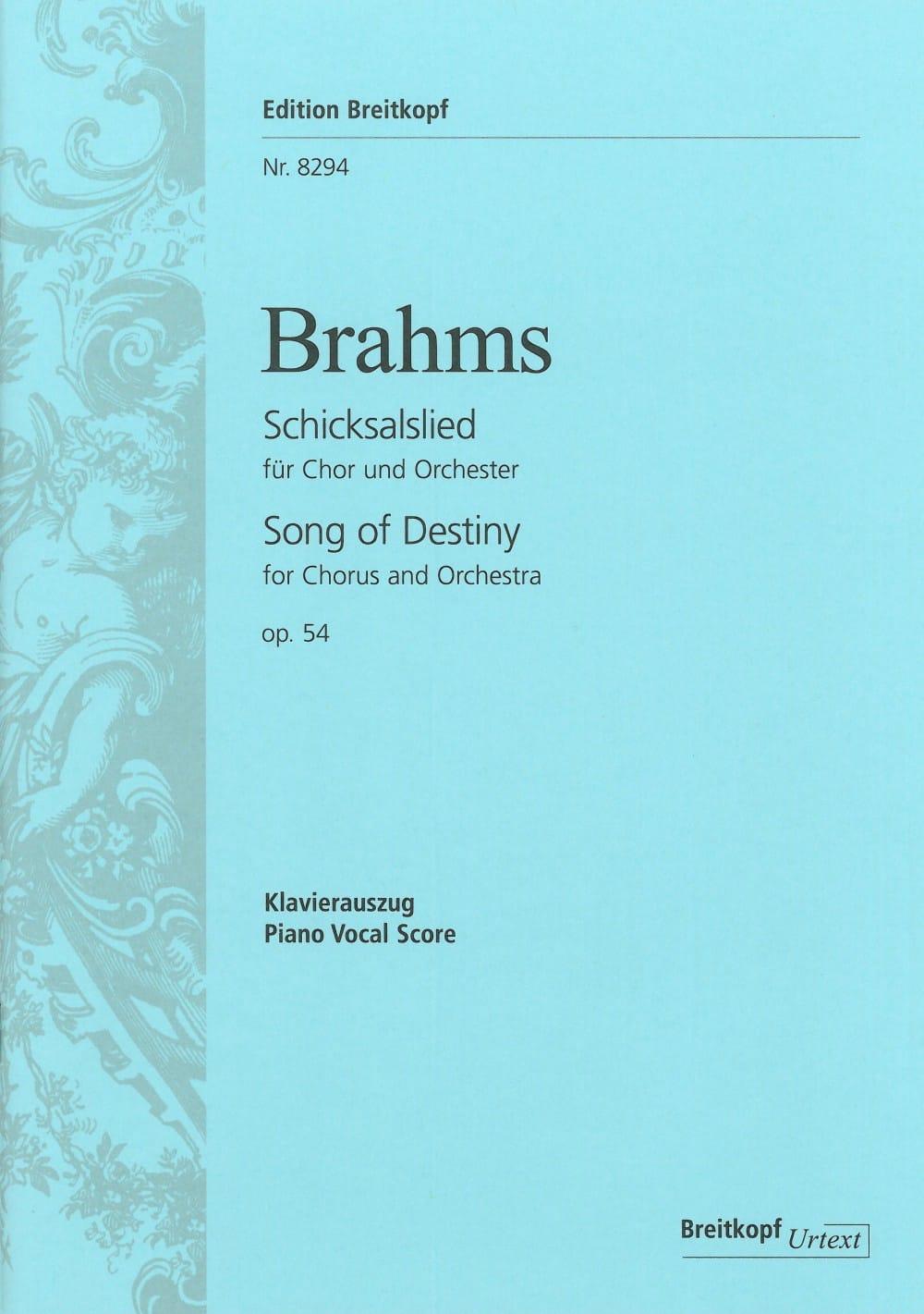 Schicksalslied Opus 54 - BRAHMS - Partition - Chœur - laflutedepan.com