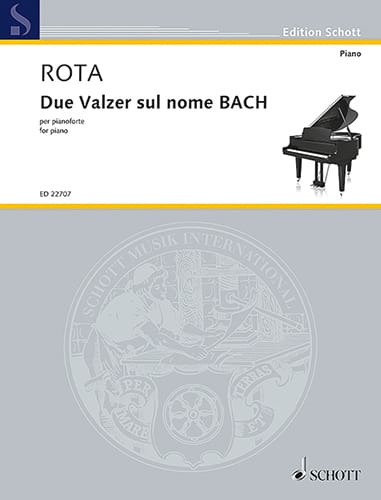 Nino Rota - 2 waltzes on the name of BACH - Partition - di-arezzo.co.uk