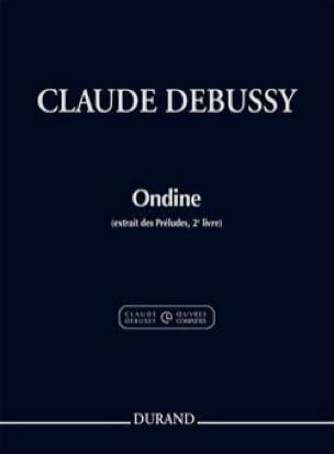 Ondine - DEBUSSY - Partition - Piano - laflutedepan.com