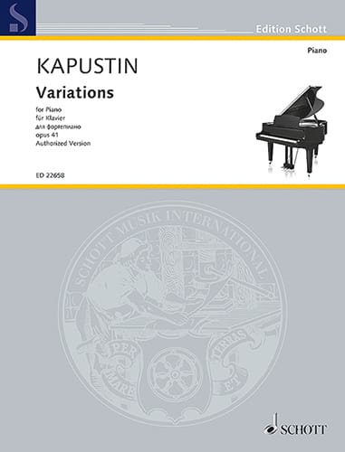 Variations pour piano Opus 41 - Nikolai Kapustin - laflutedepan.com