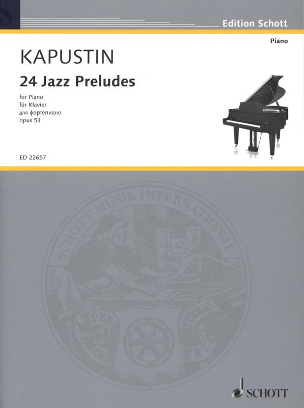 24 Jazz Preludes, Opus 53 - Nikolai Kapustin - laflutedepan.com