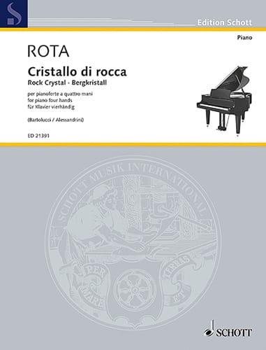 Cristal de roche - ROTA - Partition - Piano - laflutedepan.com
