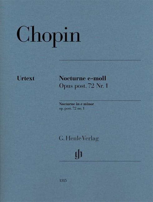 CHOPIN - Nocturne in E minor, posthumous opus 72 n ° 1 - Urtext Edition - Partition - di-arezzo.com