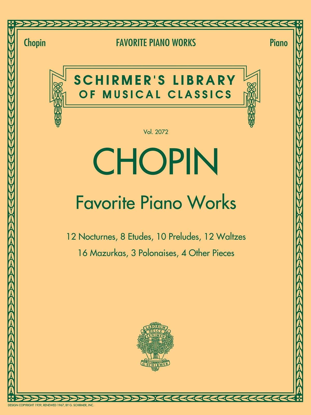 Favorite Piano Works - CHOPIN - Partition - Piano - laflutedepan.com