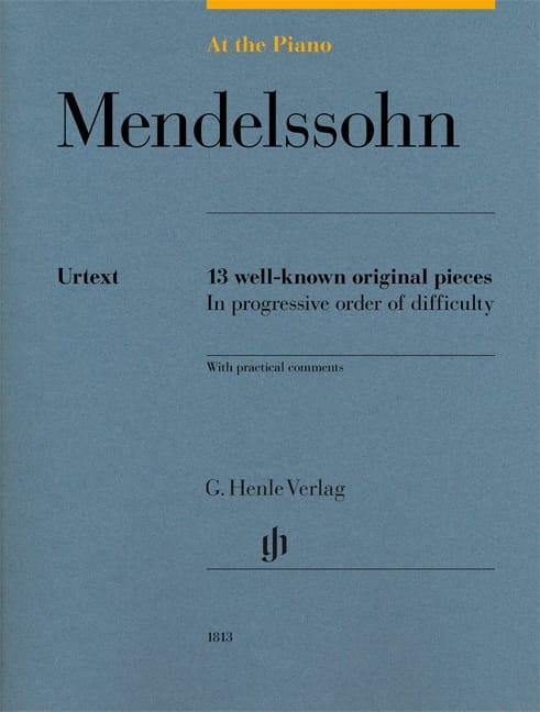 Mendelssohn, At the Piano - Edition Urtext - laflutedepan.com