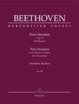2 Sonates Pour Piano Opus 49 - BEETHOVEN - laflutedepan.com