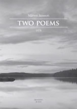 Two Poems - Marten Jansson - Partition - Chœur - laflutedepan.com