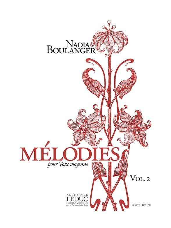 Boulanger Nadia - Melodies. Volume 2 - Partition - di-arezzo.com