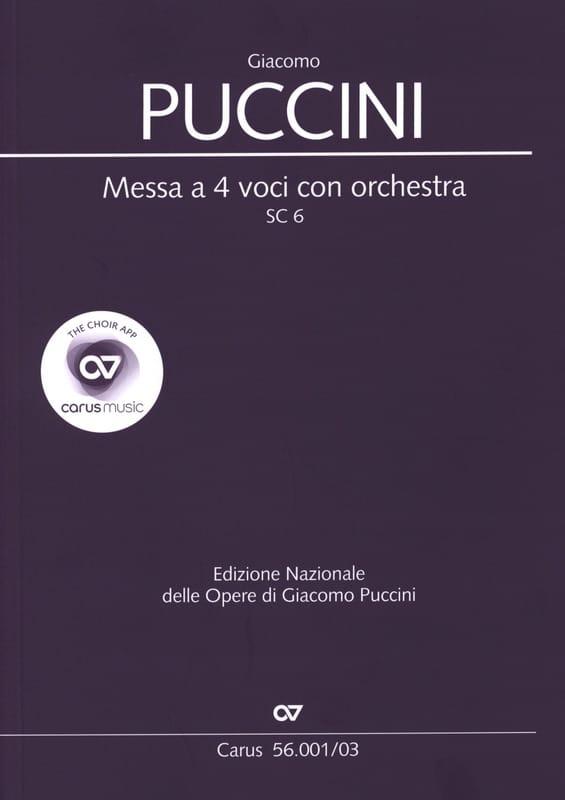 Giacomo Puccini - Messa has 4 voci con orchestra SC 6 - Partition - di-arezzo.co.uk