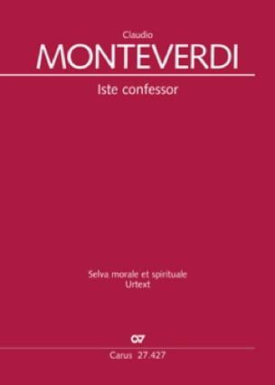 Claudio Monteverdi - Iste confessor SV 279 / Ut queant laxis SV 279a - Partition - di-arezzo.com
