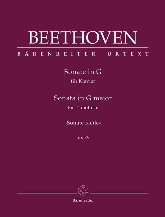 Sonate Pour Piano Sol majeur opus 79 - BEETHOVEN - laflutedepan.com