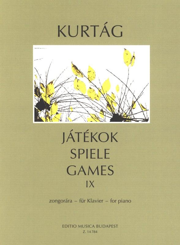 György Kurtag - Jatekok Volume 9 - Partition - di-arezzo.co.uk
