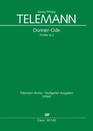 Donner-Ode Tvwv 6:3 - TELEMANN - Partition - Chœur - laflutedepan.com