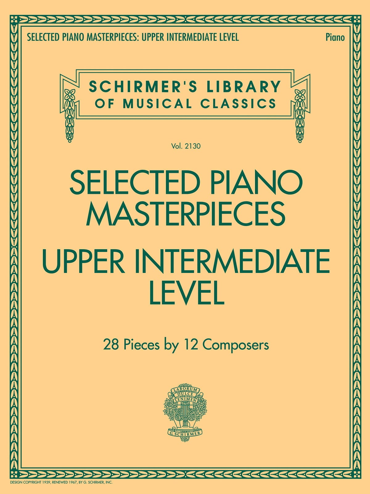 Selected Piano Masterpieces. Upper Intermediate Level - laflutedepan.com