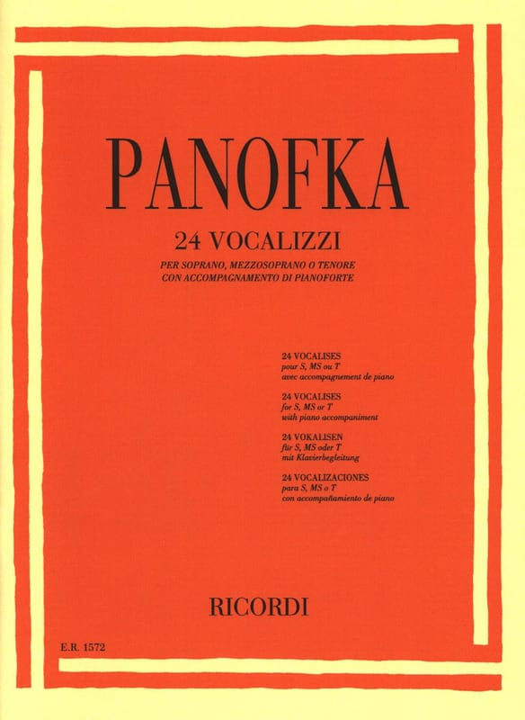 Heinrich Panofka - 24 vocalises op. 81 Soprano, mezzo-soprano and tenor - Partition - di-arezzo.co.uk