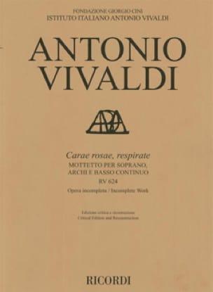 Carae rosae, respirate RV 624 - VIVALDI - Partition - laflutedepan.com