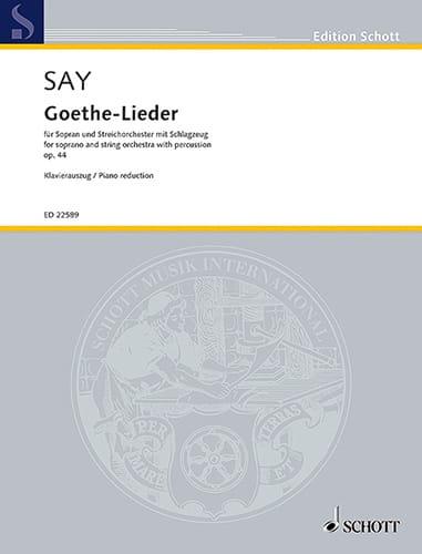 Goethe-Lieder Opus 44 - Fazil Say - Partition - laflutedepan.com