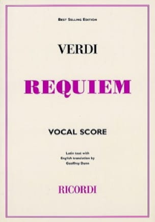 Requiem - VERDI - Partition - Chœur - laflutedepan.com