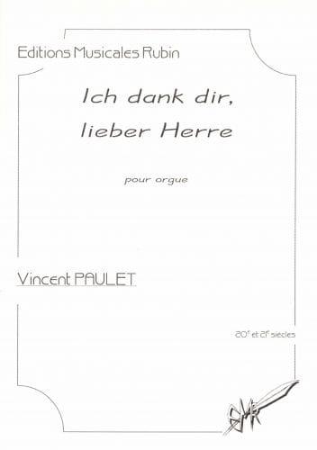 Ich dank dir, lieber Herre - Vincent Paulet - laflutedepan.com