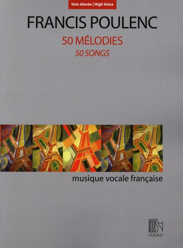 Francis Poulenc - 50 melodies. Aloud - Partition - di-arezzo.co.uk