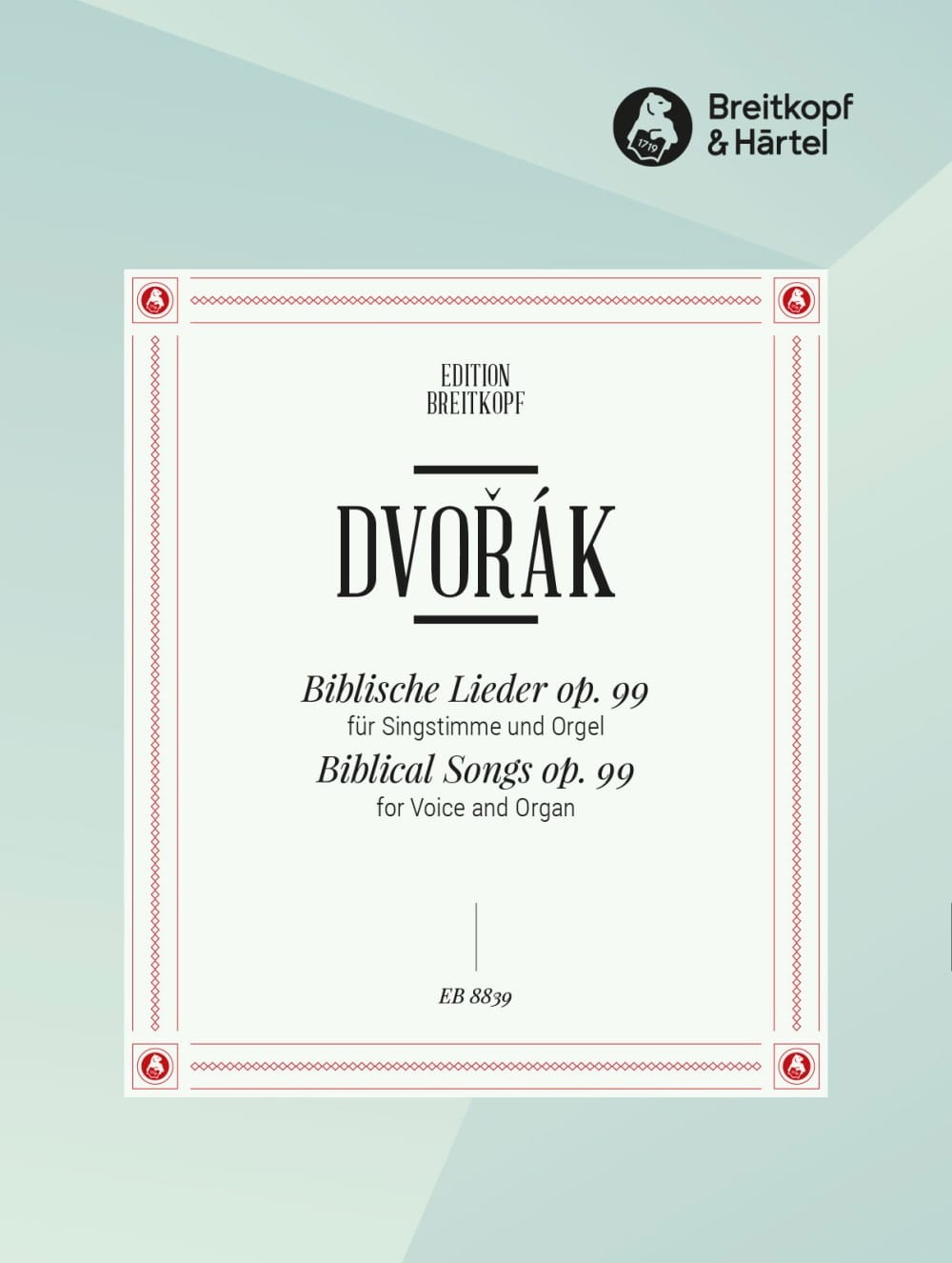 Biblische Lieder op. 99 - DVORAK - Partition - laflutedepan.com