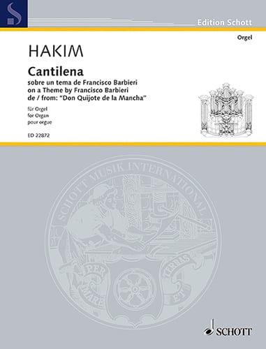 Cantilena - Naji Hakim - Partition - Orgue - laflutedepan.com
