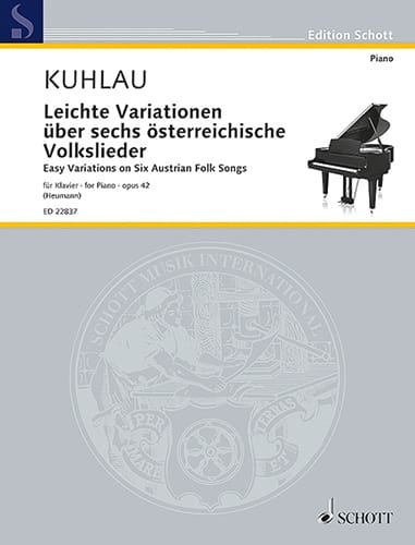 Leichte Variationen über 6 österreichische Volklieder op. 42 - laflutedepan.com