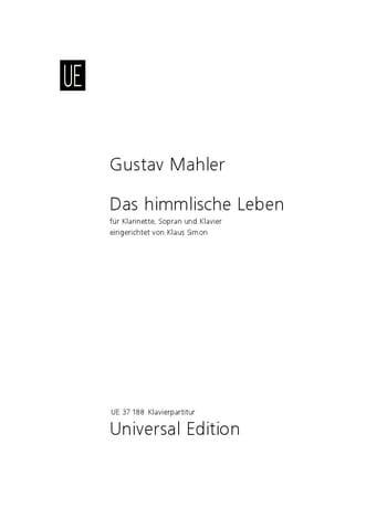 Das Himmlische Leben - MAHLER - Partition - laflutedepan.com