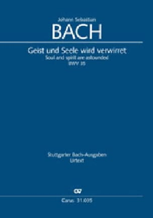 BACH - Cantate 35 Geist and Seele wird verwirret - Partition - di-arezzo.com