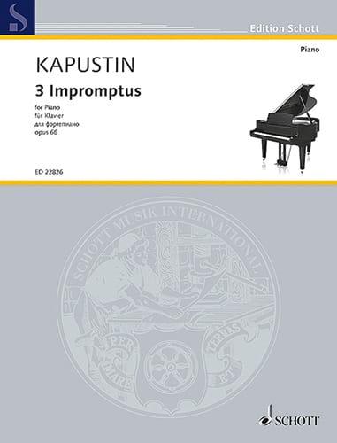3 Impromtus Opus 66 - Nikolai Kapustin - Partition - laflutedepan.com