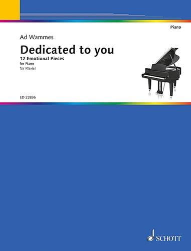 Dedicated to you - Ad Wammes - Partition - Piano - laflutedepan.com