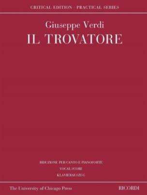 Il Trovatore. Edition Critique - VERDI - Partition - laflutedepan.com