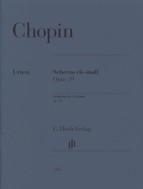 Scherzo en do # mineur Opus 39 - CHOPIN - Partition - laflutedepan.com