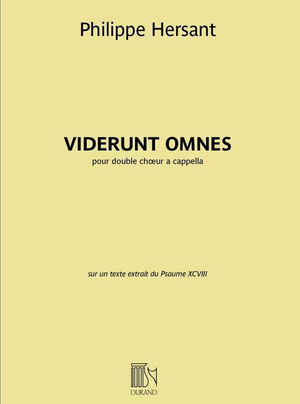Viderunt Omnes - Philippe Hersant - Partition - laflutedepan.com