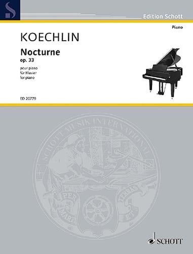 Nocturne Opus 33 - Charles Koechlin - Partition - laflutedepan.com