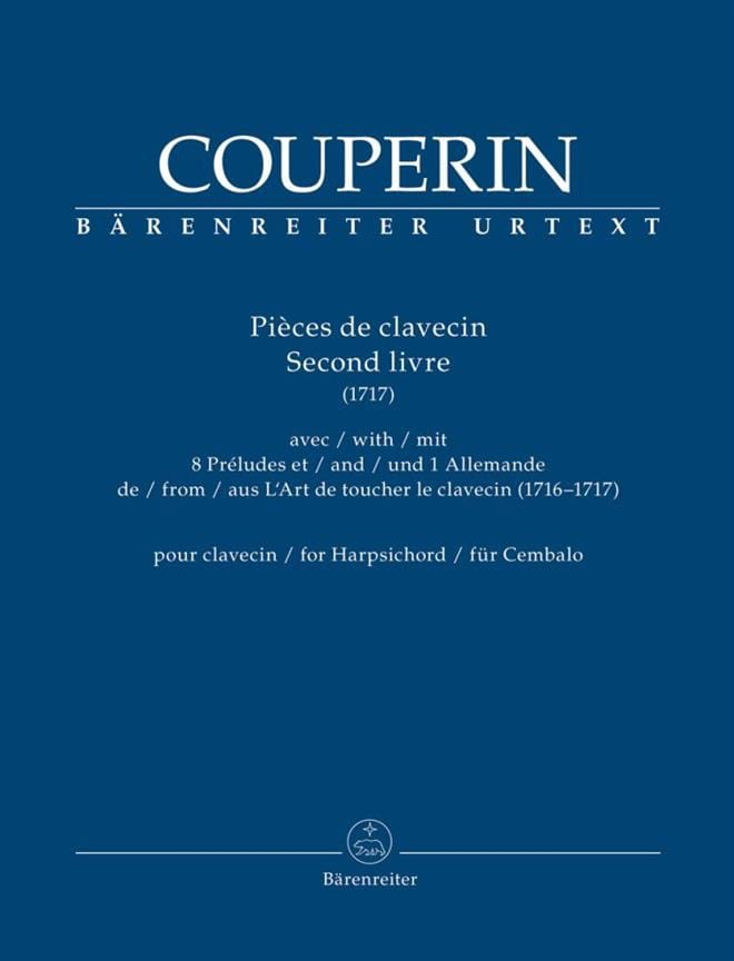 François Couperin - Harpsichord pieces. 2nd book 1717 - Partition - di-arezzo.co.uk