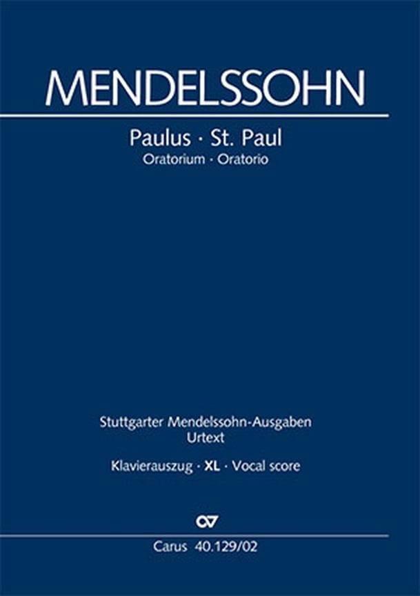 Paulus Opus 36 Mwv A 14 XL Format - MENDELSSOHN - laflutedepan.com