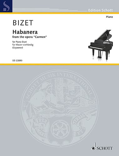 BIZET - Habanera. 4 hands - Partition - di-arezzo.co.uk