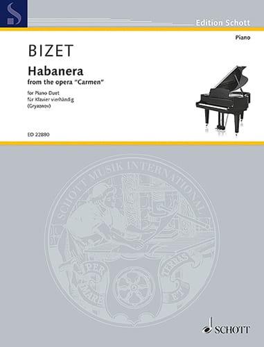BIZET - Habanera. 4 manos - Partition - di-arezzo.es