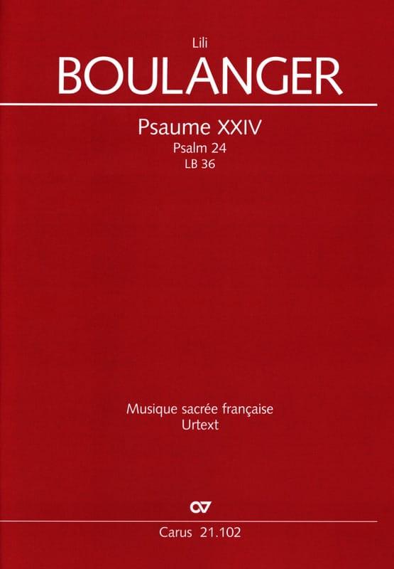 Psaume XXIV 24 LB 36 - Lili Boulanger - Partition - laflutedepan.com