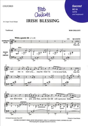 Irish blessing SATB - Bob Chilcott - Partition - laflutedepan.com
