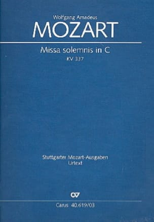 Missa Solemnis. Do Majeur K 337. - MOZART - laflutedepan.com