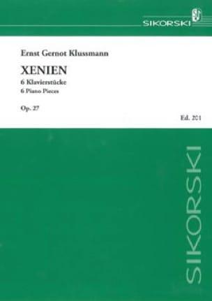 Xenien - Gernot Ernst Klussmann - Partition - Piano - laflutedepan.com