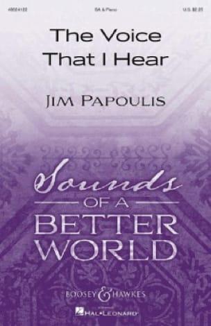 The Voice That I Hear - Jim Papoulis - Partition - laflutedepan.com