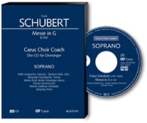 Messe en Sol Majeur D 167. CD Ténor - SCHUBERT - laflutedepan.com