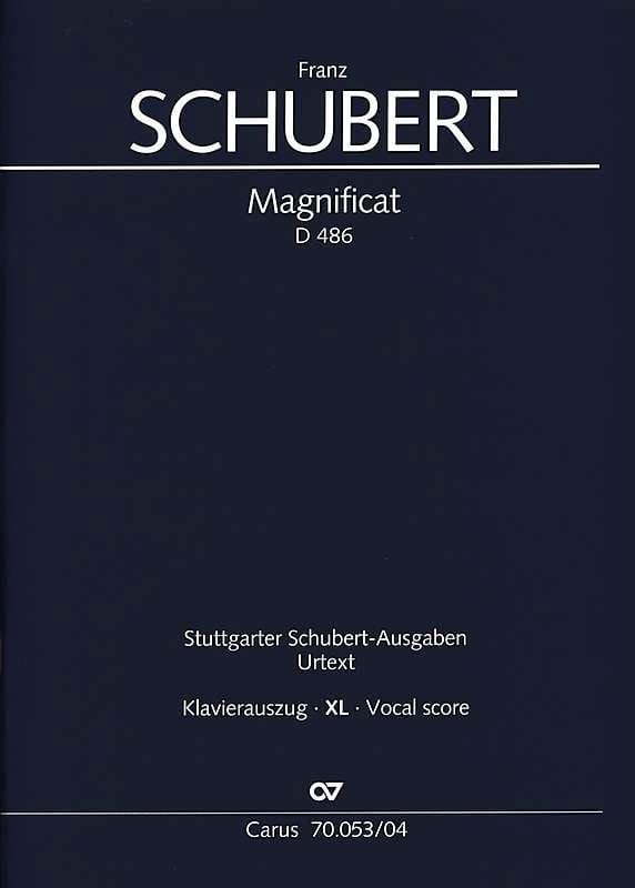 Magnificat En Do Majeur D 486 XL Format - SCHUBERT - laflutedepan.com