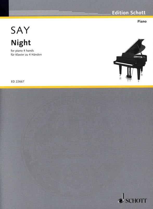 Night Opus 68. - Fazil Say - Partition - Piano - laflutedepan.com
