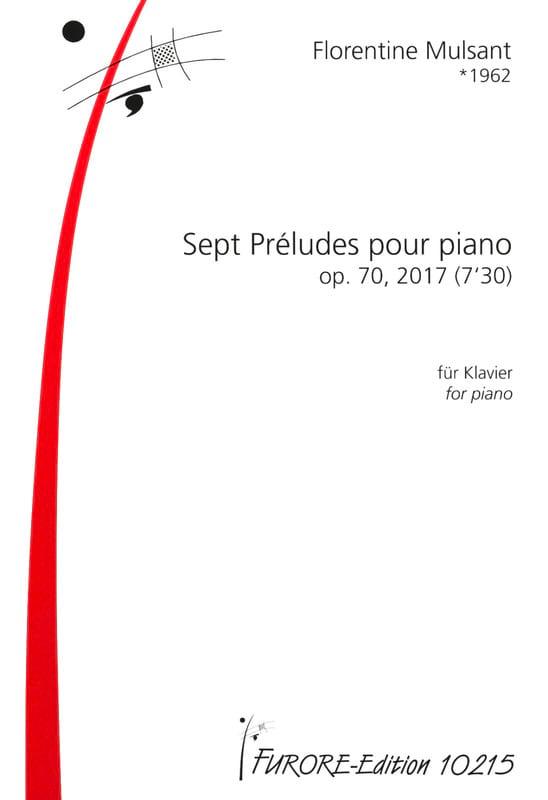 7 Préludes op.70 - Florentine Mulsant - Partition - laflutedepan.com