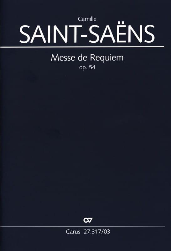 Requiem op. 54 - SAINT-SAËNS - Partition - Chœur - laflutedepan.com